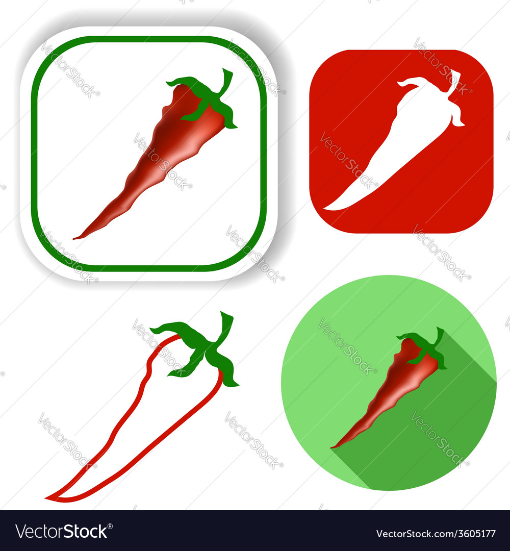 Pepper icons vector | Price: 1 Credit (USD $1)