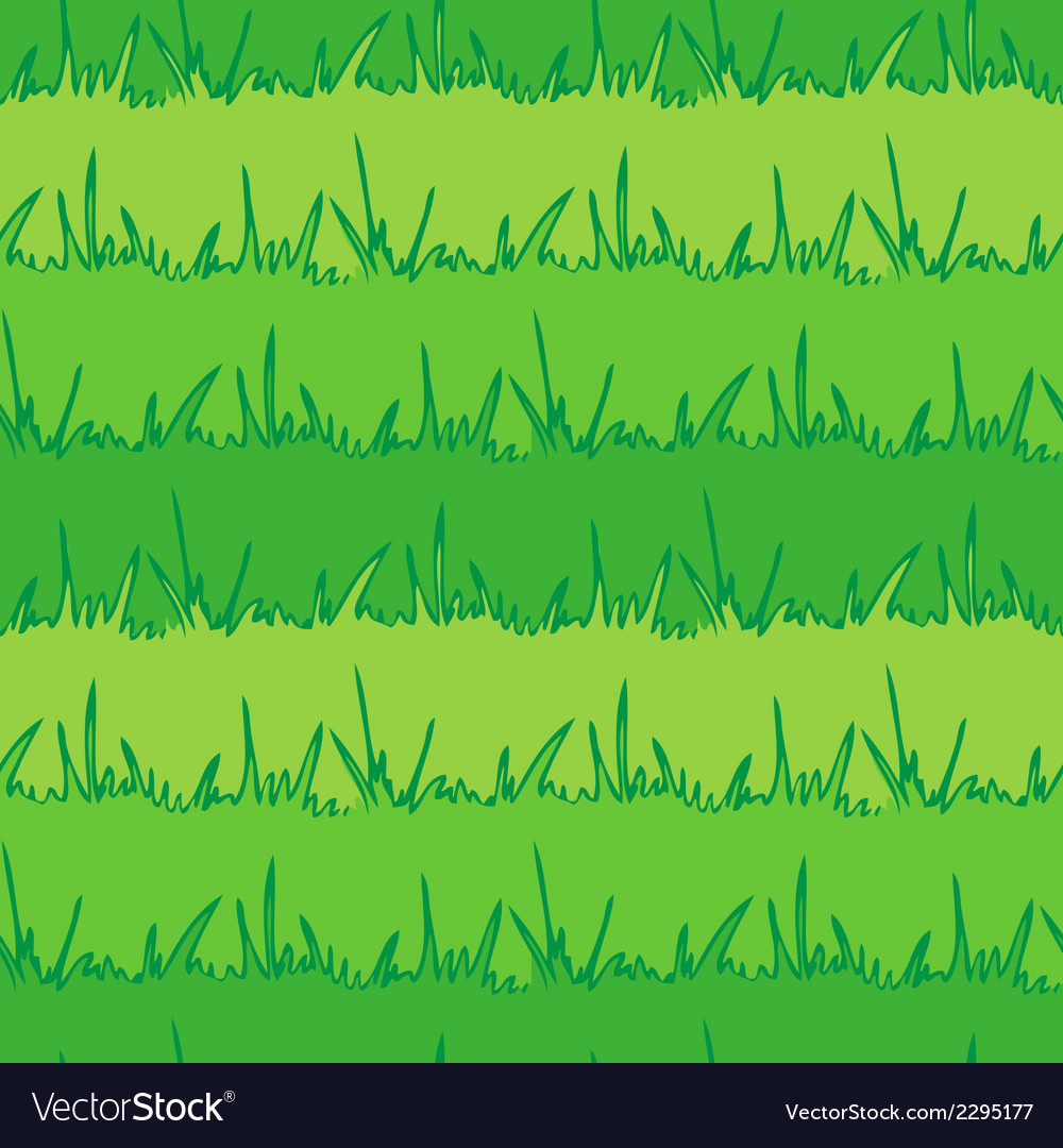 Seamless vegetation background green grass vector | Price: 1 Credit (USD $1)