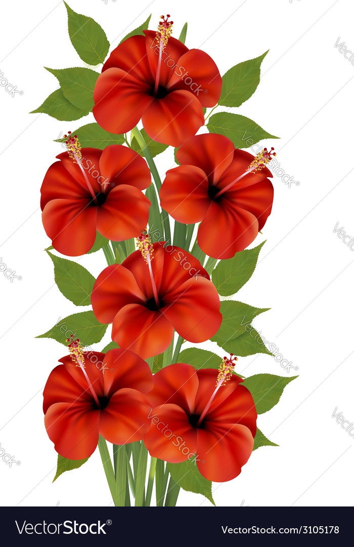 Background with a bunch of red flowers vector | Price: 1 Credit (USD $1)