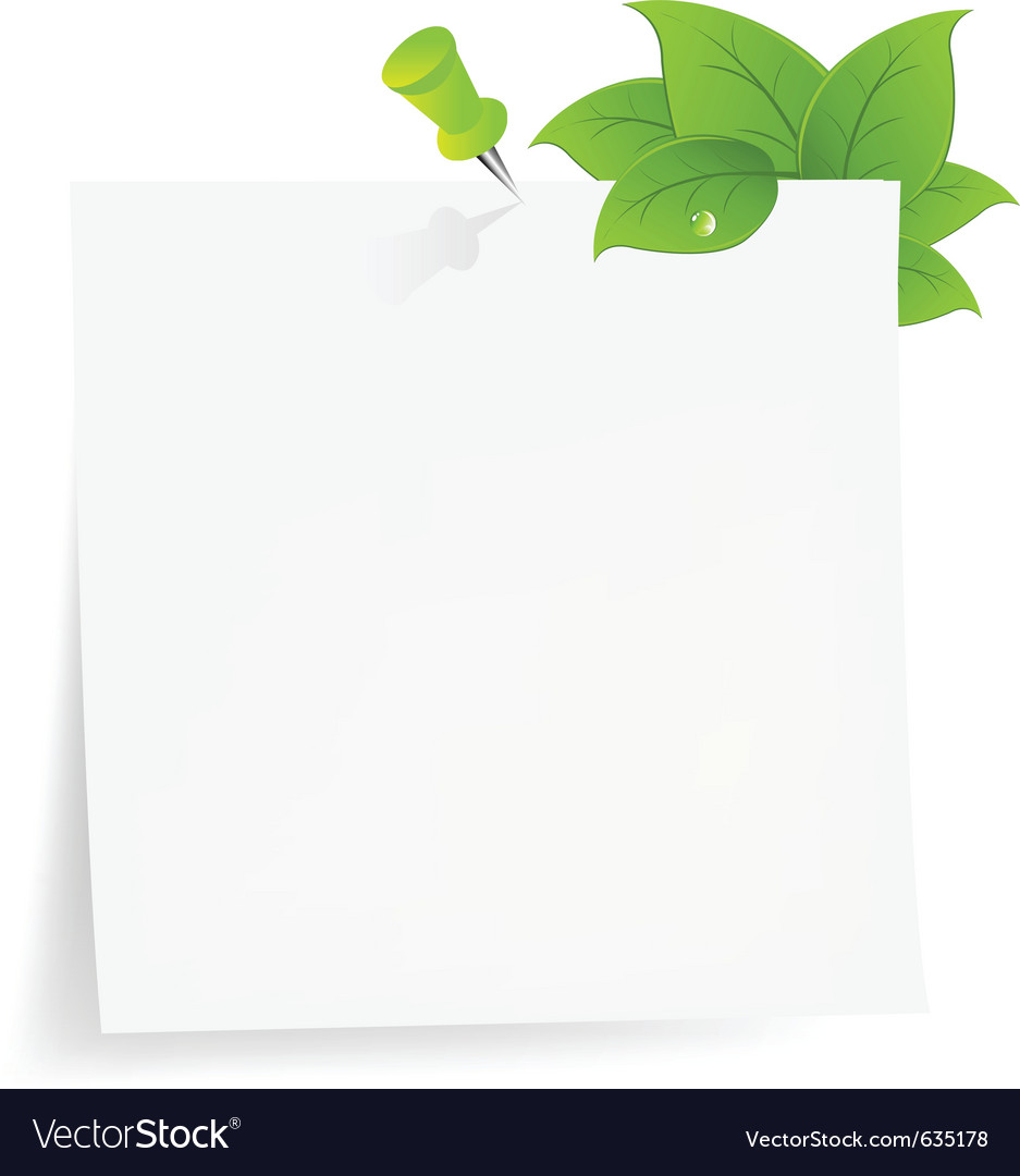 Blank note paper vector | Price: 1 Credit (USD $1)
