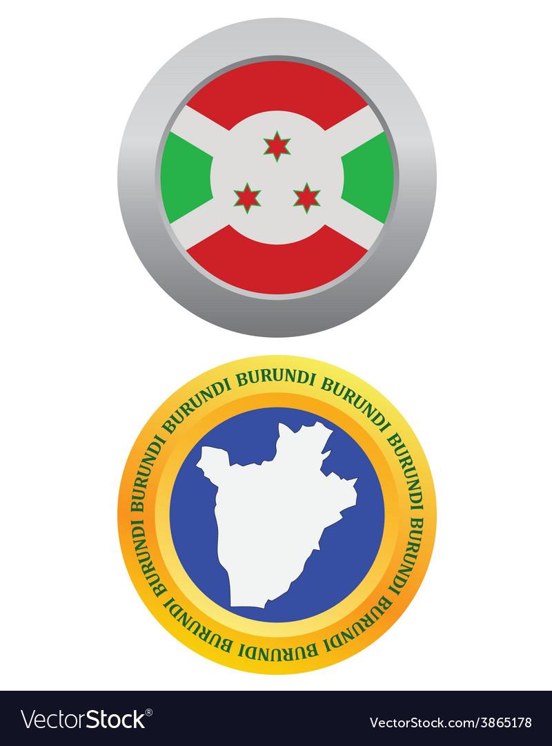 Button as a symbol burundi vector | Price: 1 Credit (USD $1)