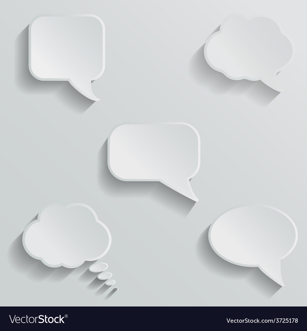 Chat bubbles - paper cut design white color on vector | Price: 1 Credit (USD $1)