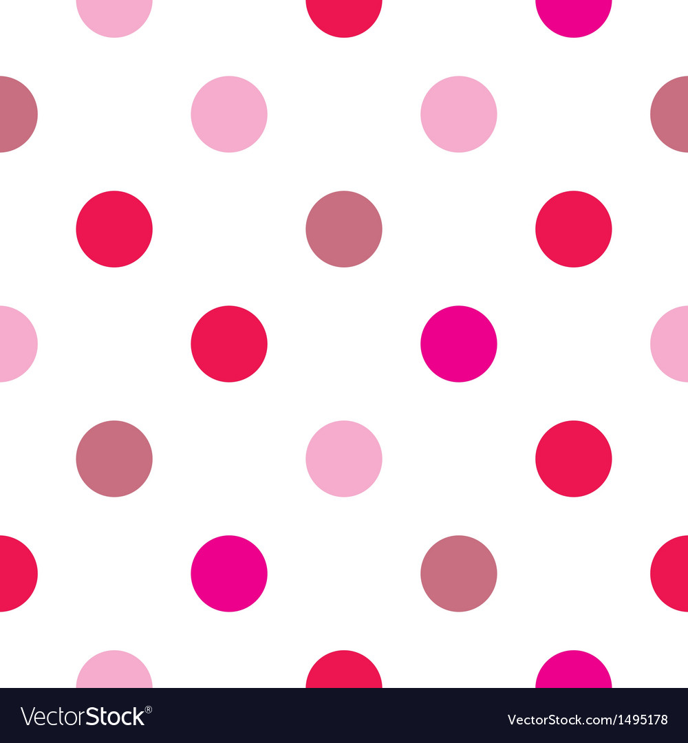 Colorful big pink red polka dots background vector | Price: 1 Credit (USD $1)