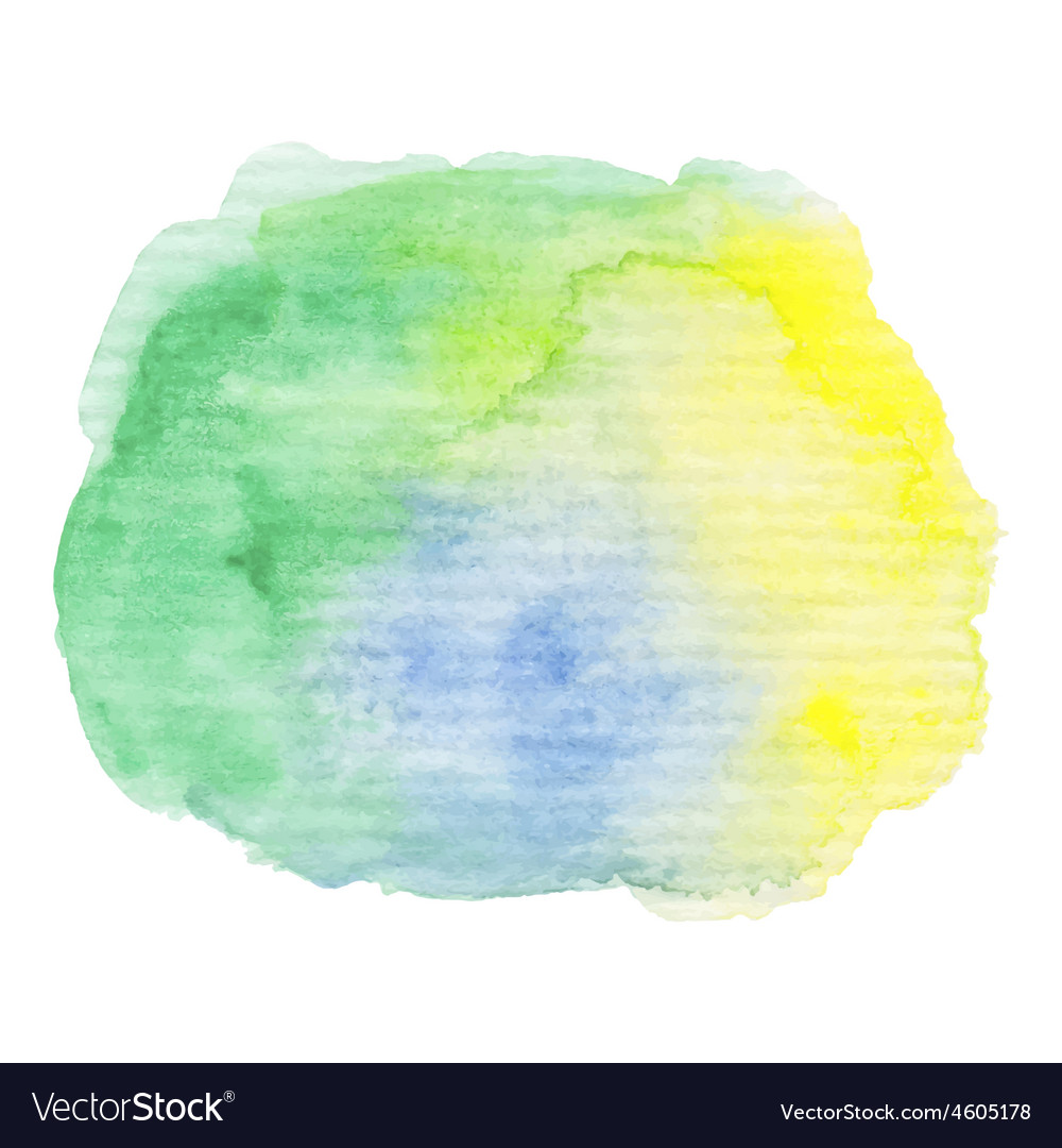 Hand painted watercolor blob vector | Price: 1 Credit (USD $1)