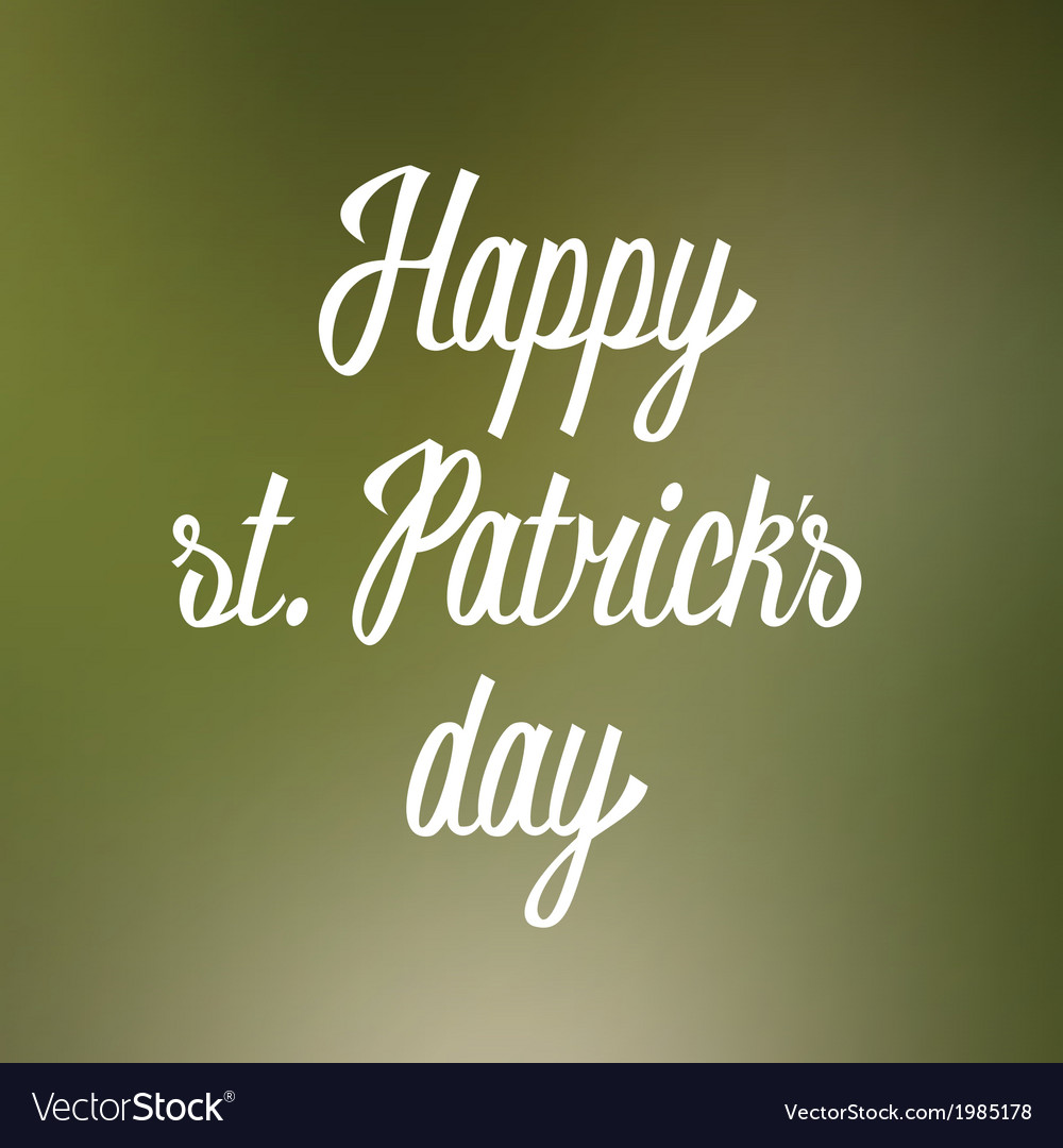 Happy st patricks day hand lettering vector | Price: 1 Credit (USD $1)