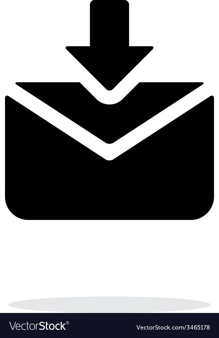 Incoming mails icon on white background vector | Price: 1 Credit (USD $1)