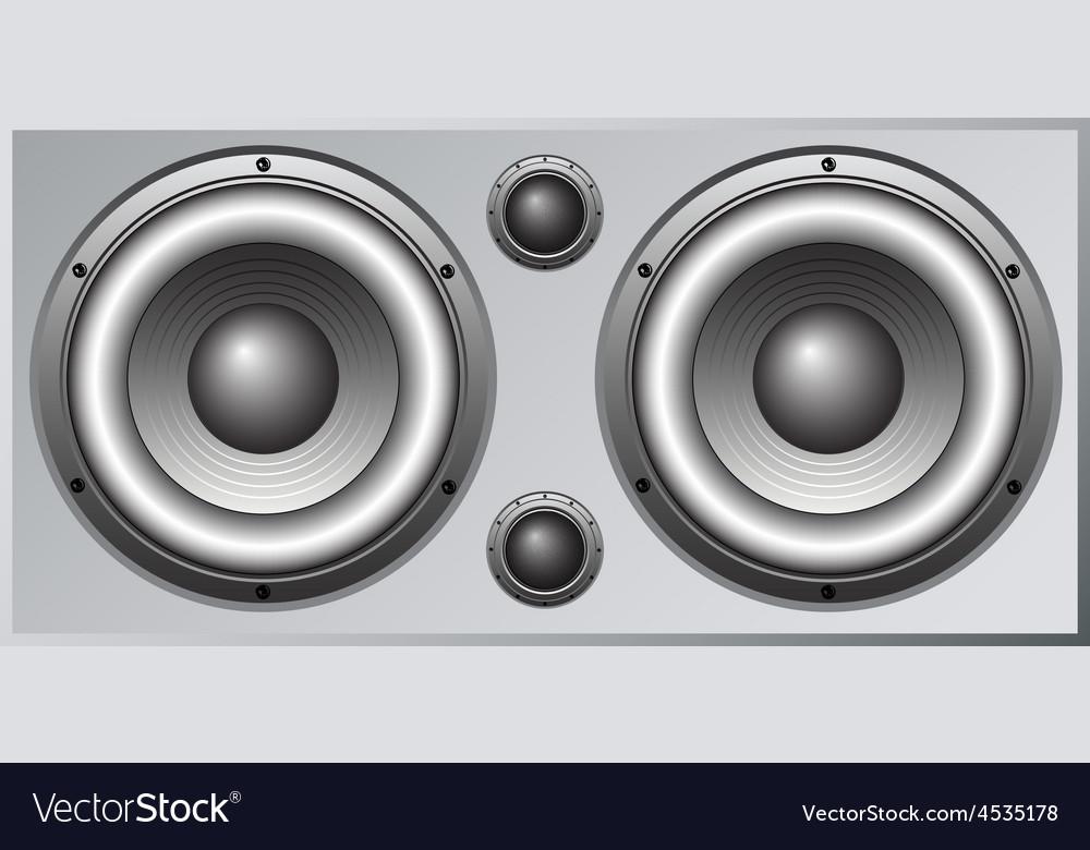 Loudspeaker cabinet 1 vector | Price: 1 Credit (USD $1)