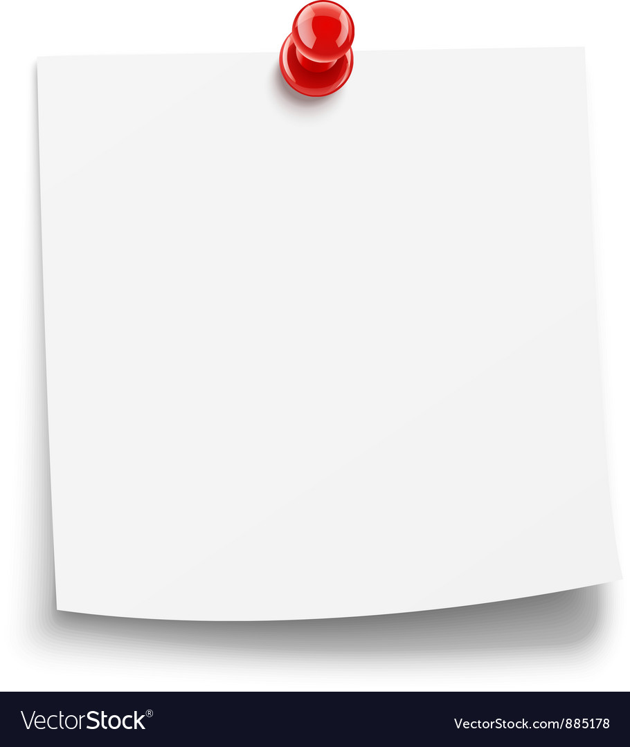 Paper notice with pin vector | Price: 1 Credit (USD $1)