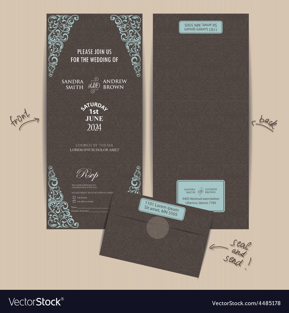 Seal and send invitation vector | Price: 1 Credit (USD $1)