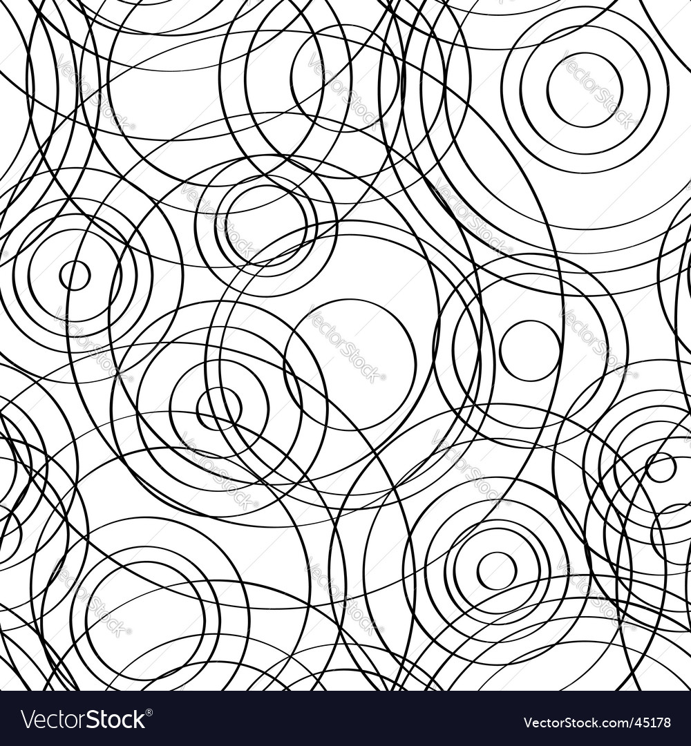 Seamless circles background black vector | Price: 1 Credit (USD $1)