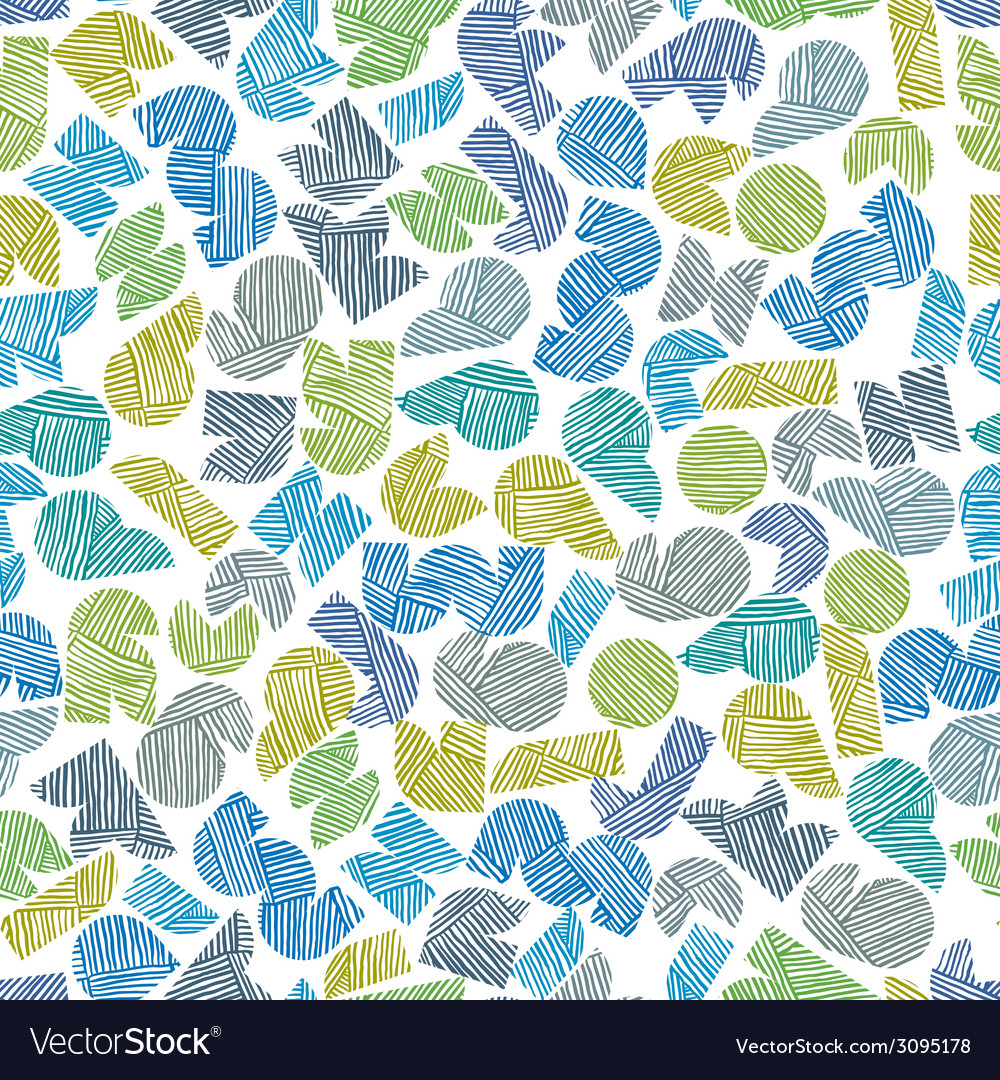 Seamless pattern with hand drawn lines te vector | Price: 1 Credit (USD $1)