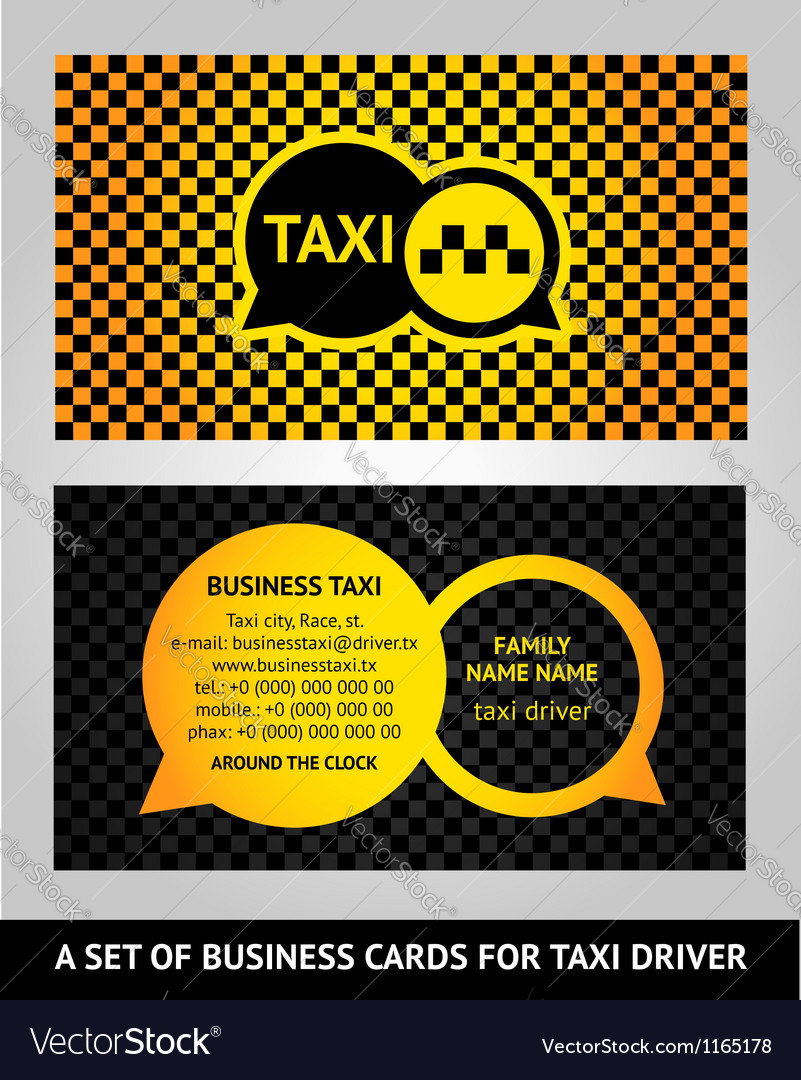 Visiting cards taxi vector | Price: 1 Credit (USD $1)