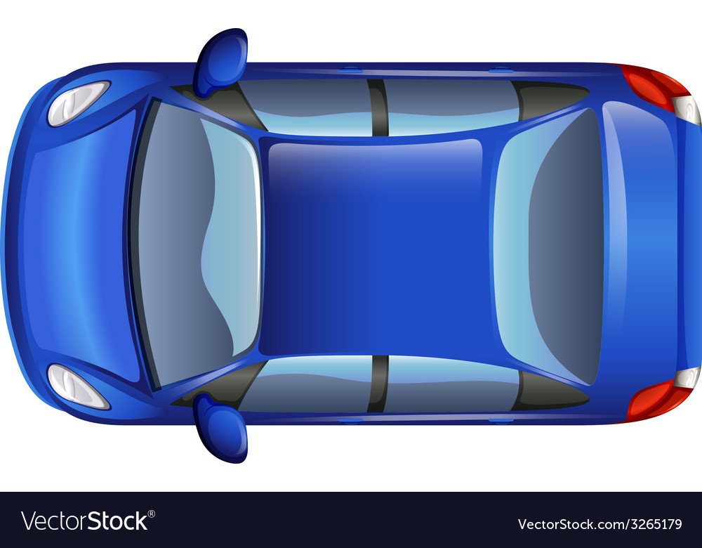 A blue car vector | Price: 1 Credit (USD $1)