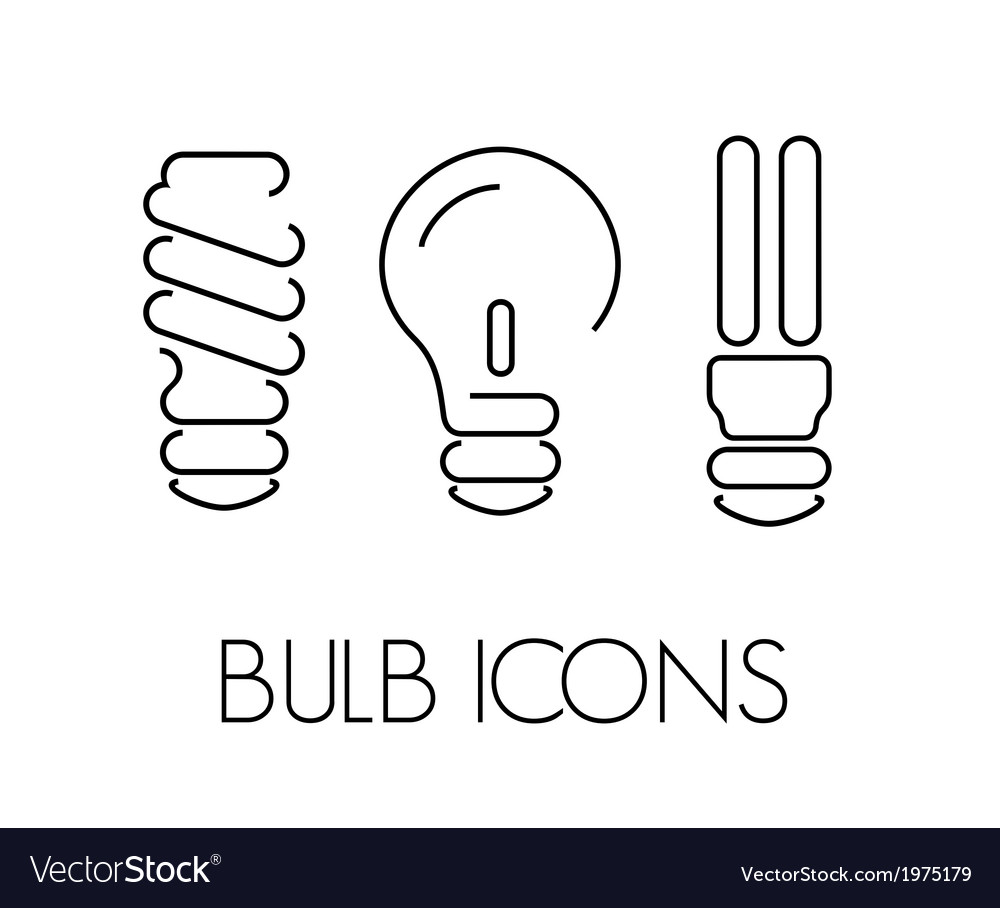 Bulb thin1 vector | Price: 1 Credit (USD $1)