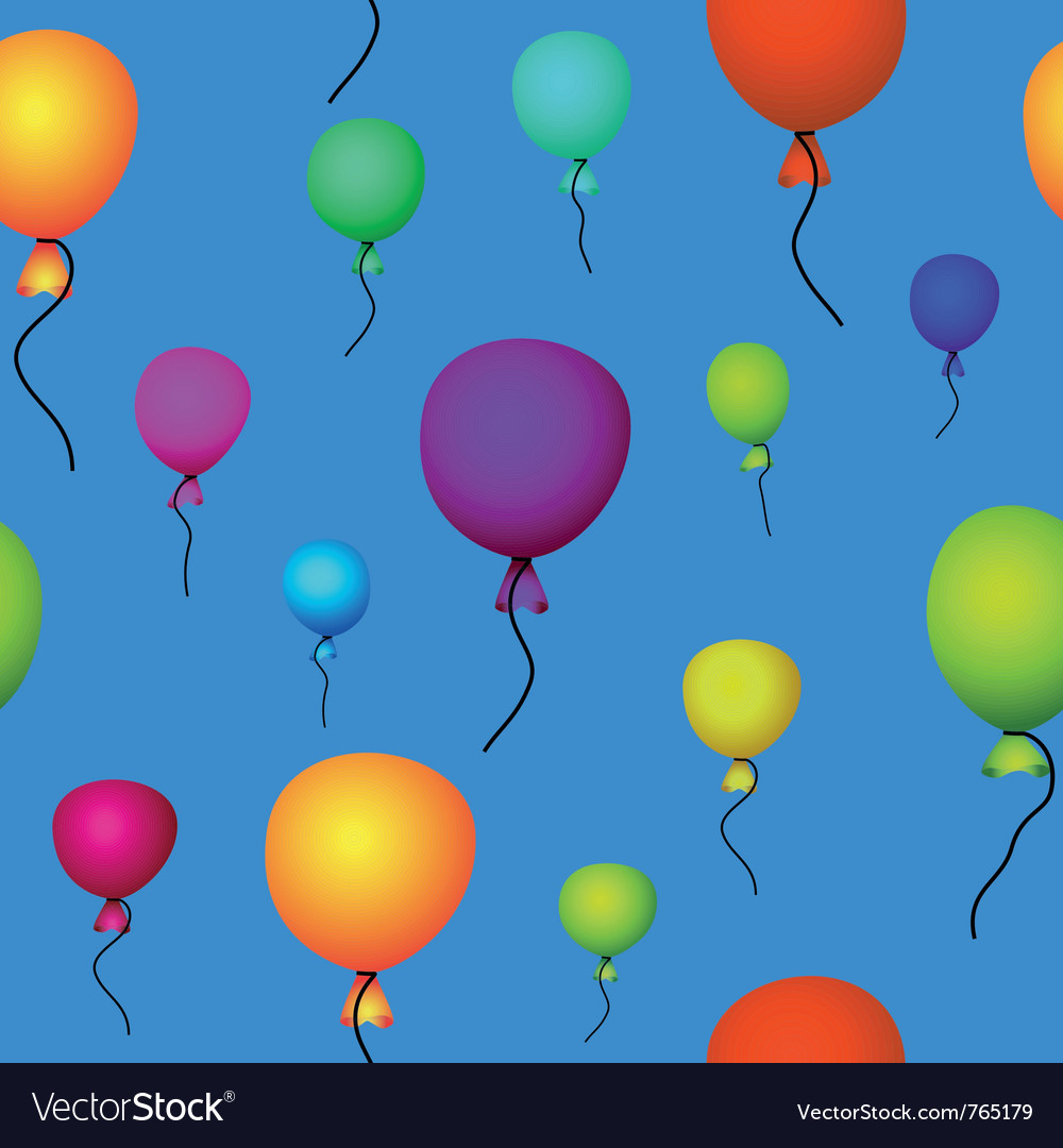 Coloured balloons flying vector | Price: 1 Credit (USD $1)