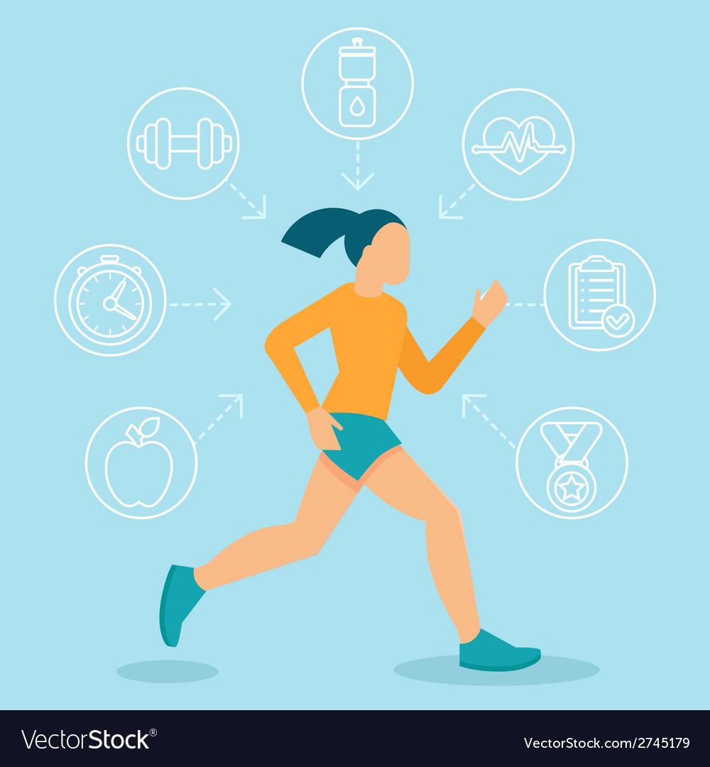 Fitness infographics design elements vector | Price: 1 Credit (USD $1)