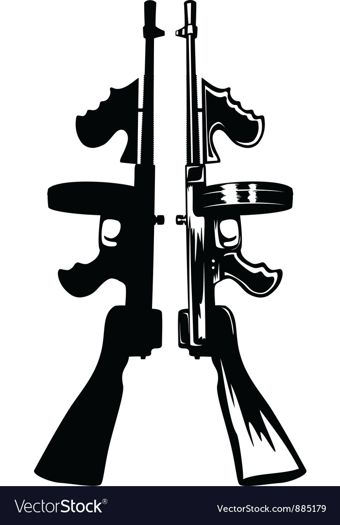 Gangster gun vector | Price: 1 Credit (USD $1)