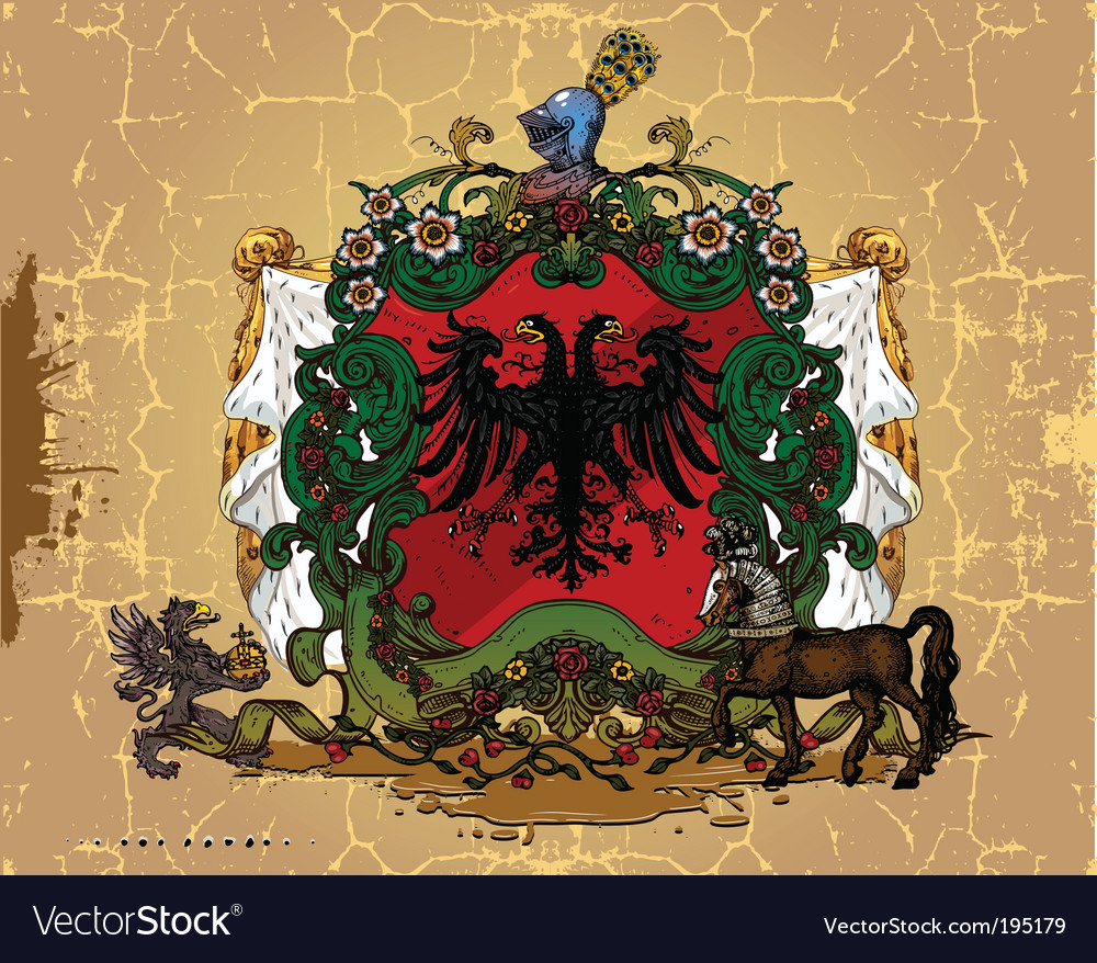 Heraldic design vector | Price: 1 Credit (USD $1)