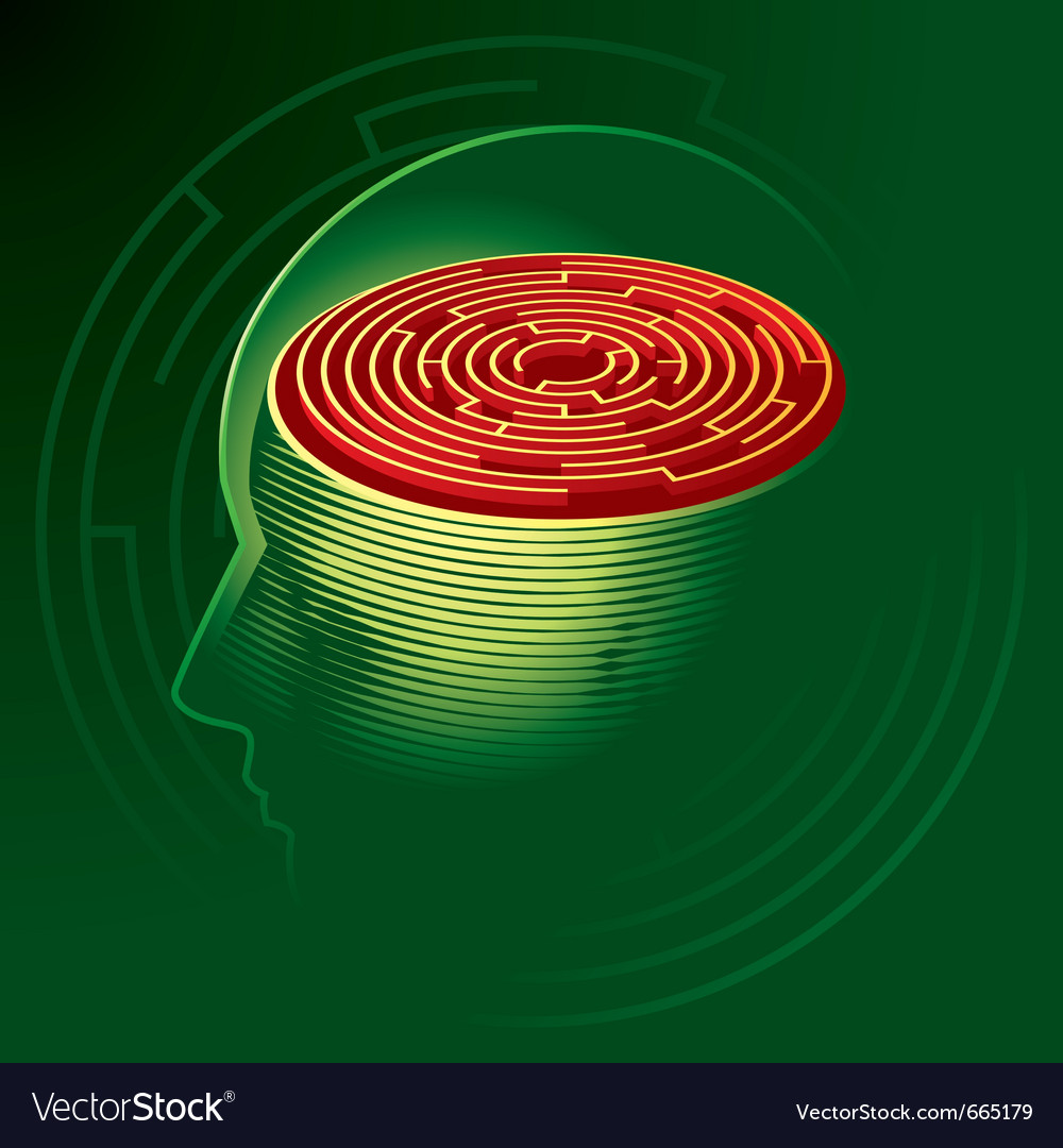 Labyrinth mind vector | Price: 3 Credit (USD $3)