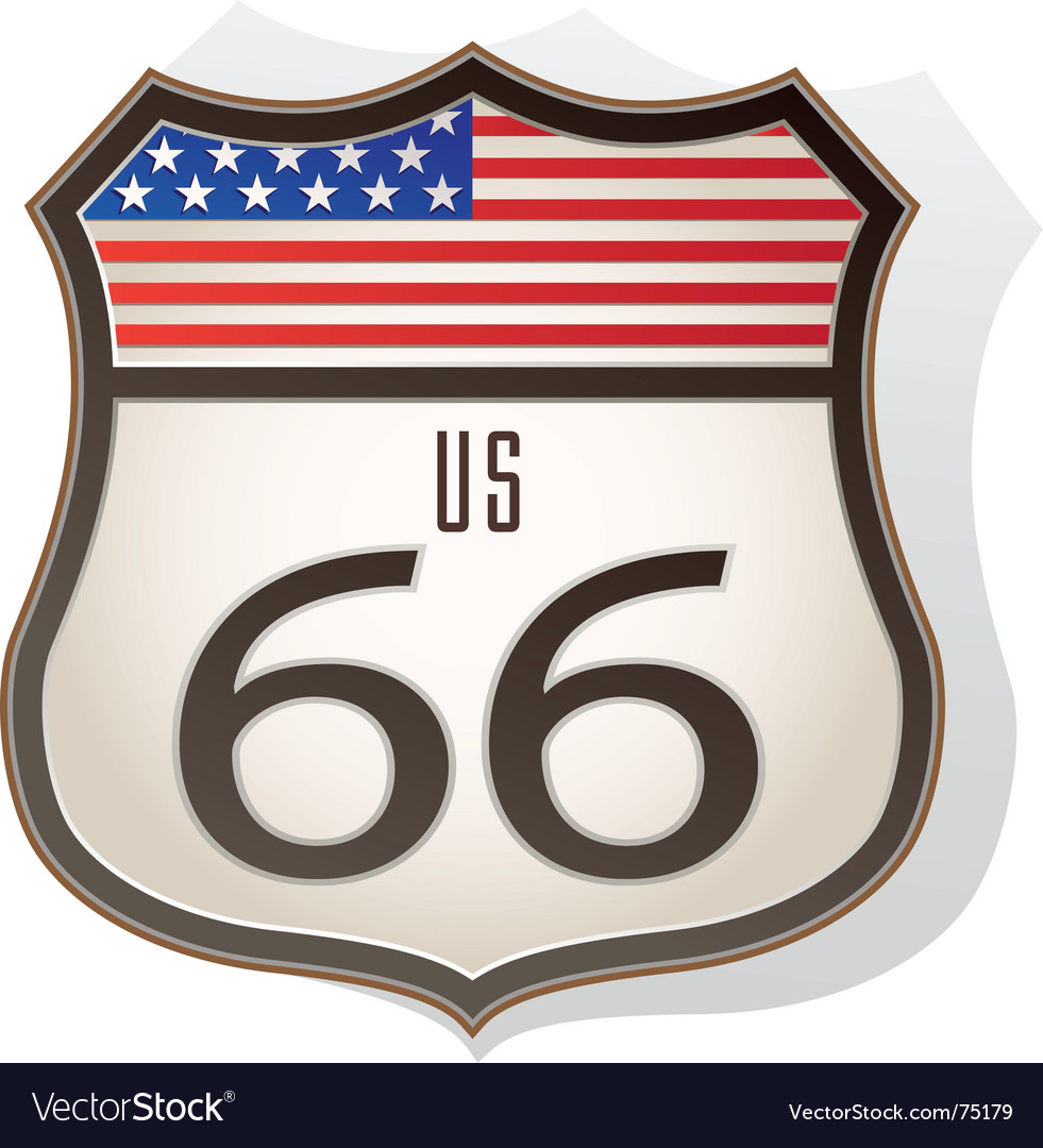 Route66 sign vector | Price: 1 Credit (USD $1)