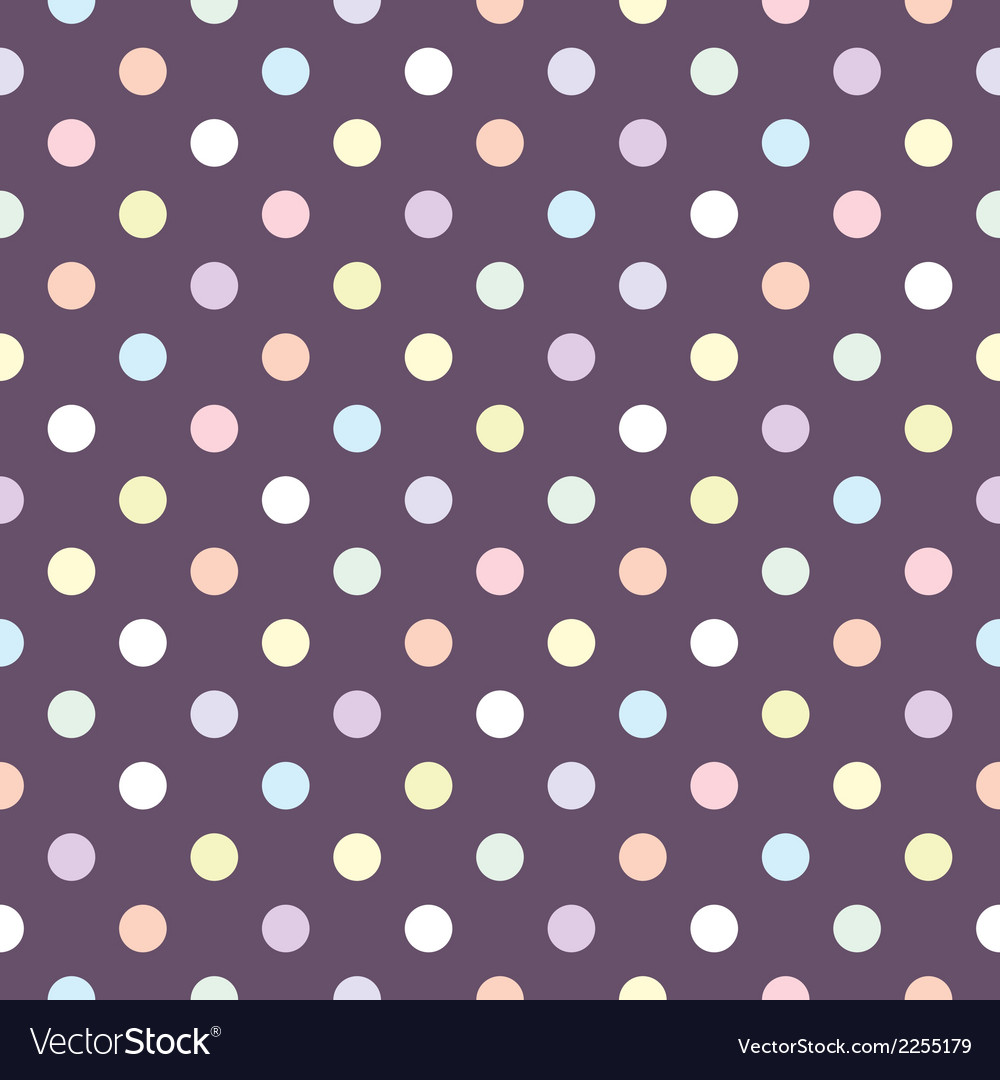 Tile polka dots pattern or seamless background vector | Price: 1 Credit (USD $1)