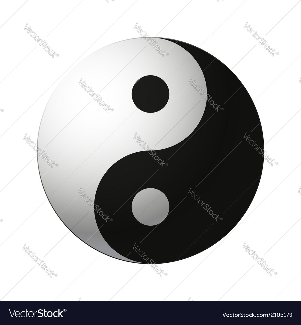 Yin yang symbol vector | Price: 1 Credit (USD $1)
