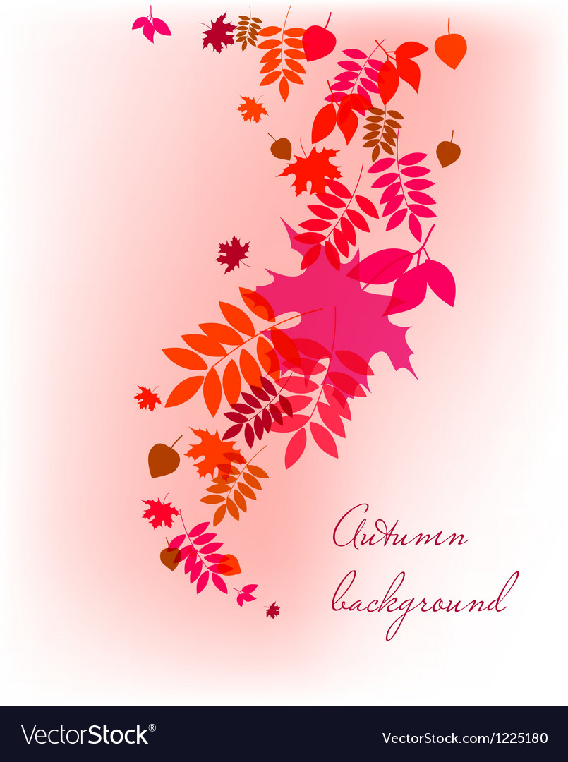 Autumn leaves falling background vector | Price: 1 Credit (USD $1)