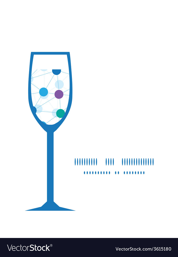Connected dots wine glass silhouette pattern frame vector | Price: 1 Credit (USD $1)