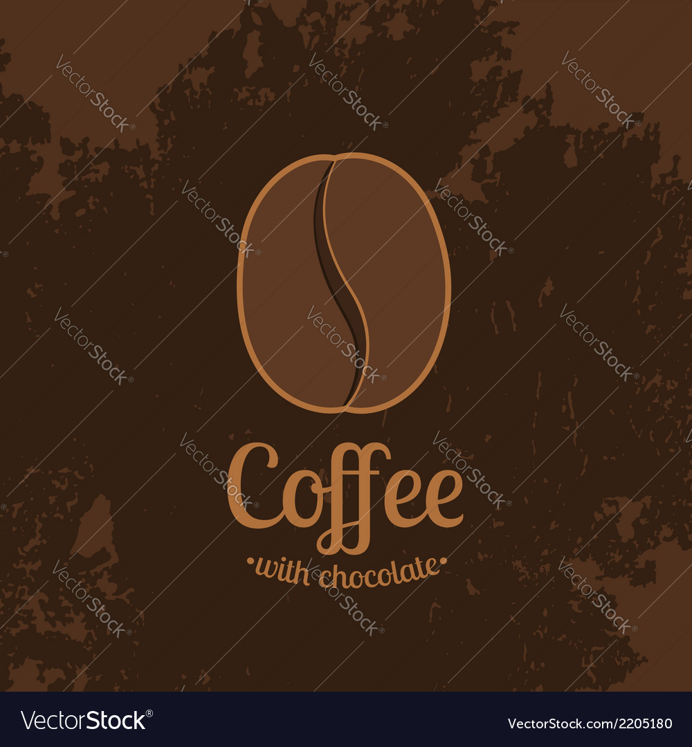 Dark textured background with coffee bean vector | Price: 1 Credit (USD $1)