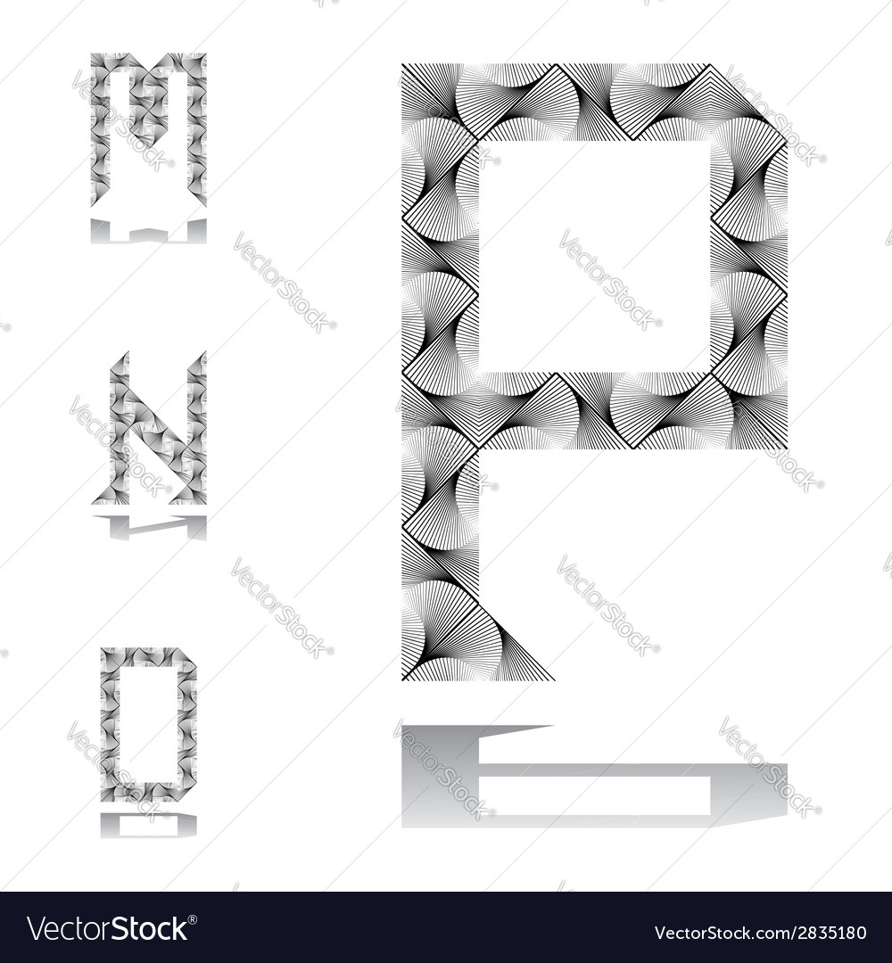 Design abc letters from m to p vector | Price: 1 Credit (USD $1)