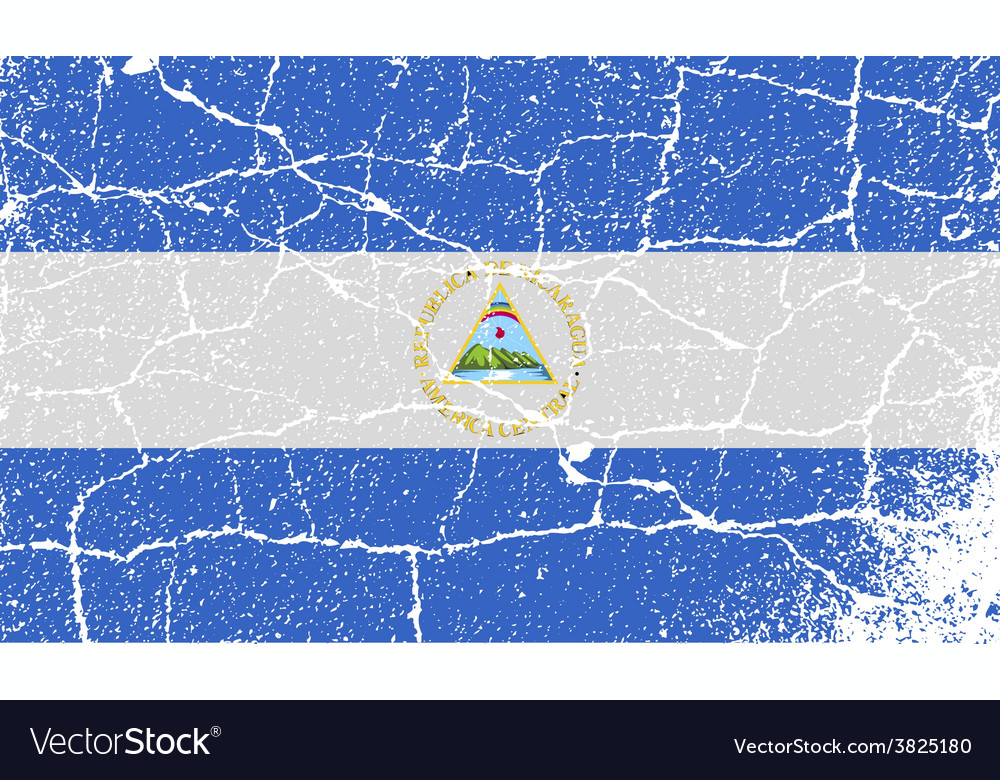 Flag of nicaragua with old texture vector | Price: 1 Credit (USD $1)
