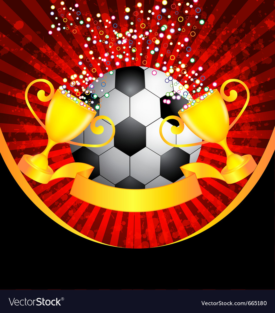 Football and trophy vector | Price: 1 Credit (USD $1)