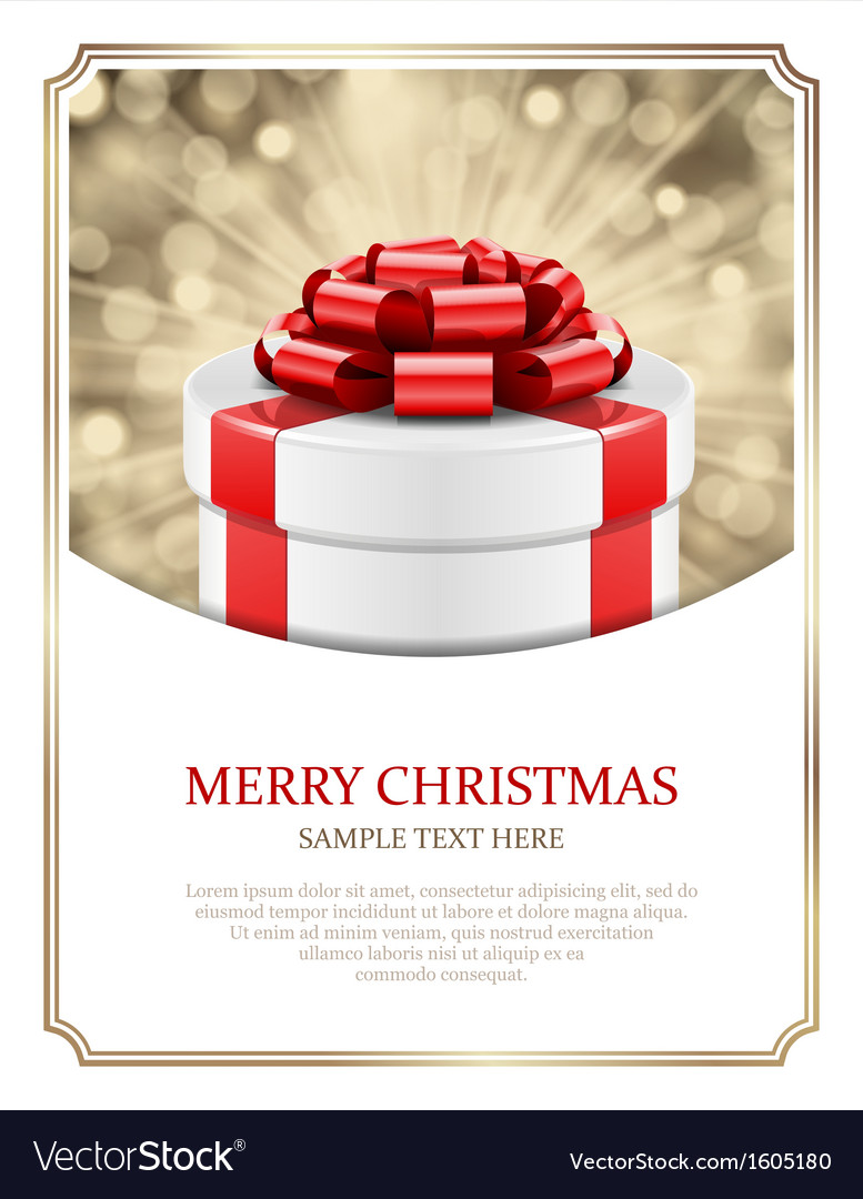 Gift box and light christmas background vector | Price: 1 Credit (USD $1)