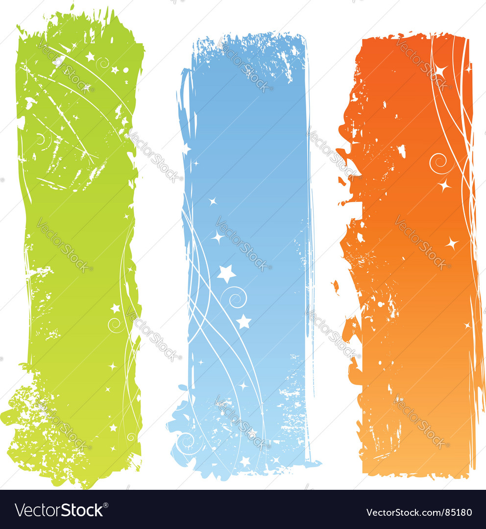 Grunge multicolored banners vector | Price: 1 Credit (USD $1)