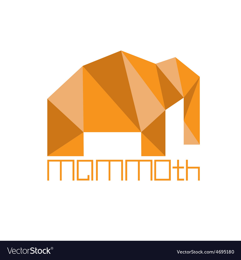 Mammoth in polygon style vector | Price: 1 Credit (USD $1)