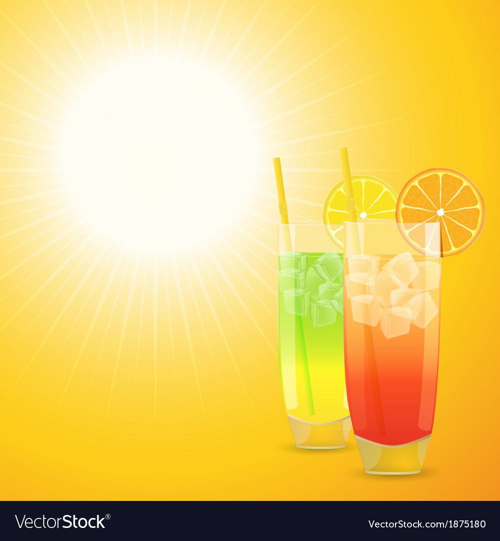 Summer cocktail background vector | Price: 1 Credit (USD $1)