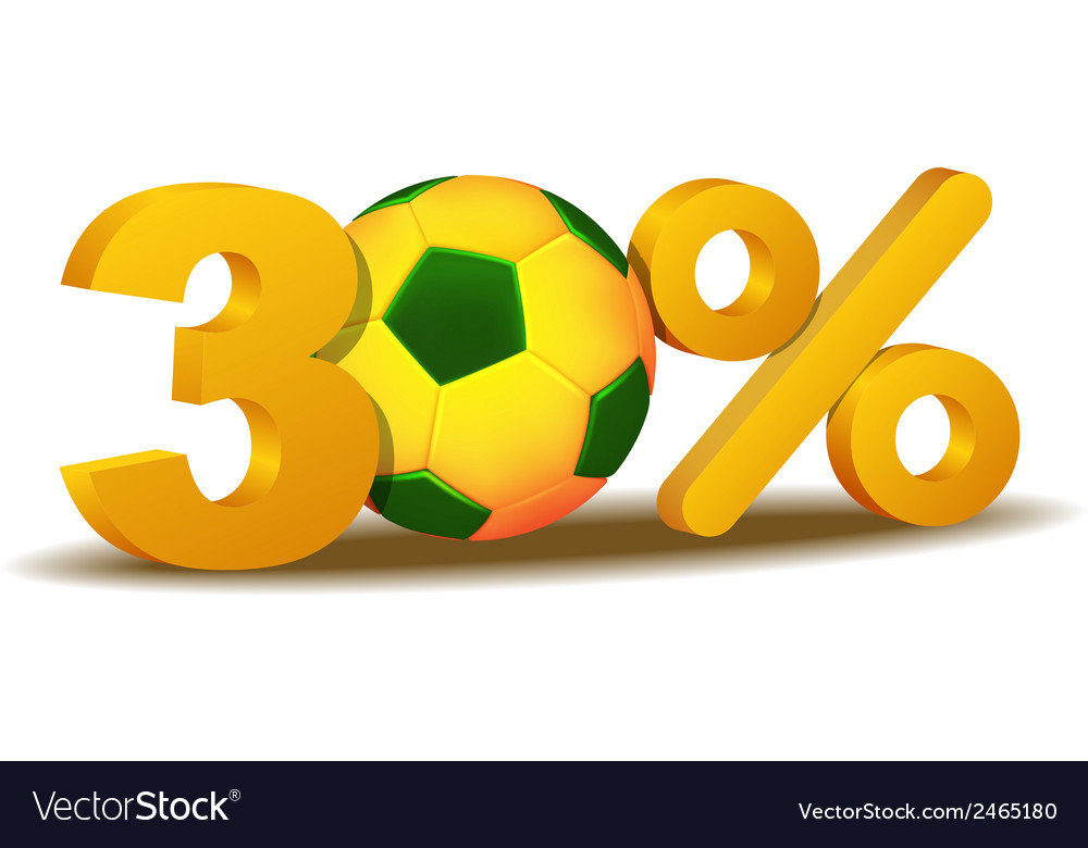 Thirty percent discount icon vector | Price: 1 Credit (USD $1)