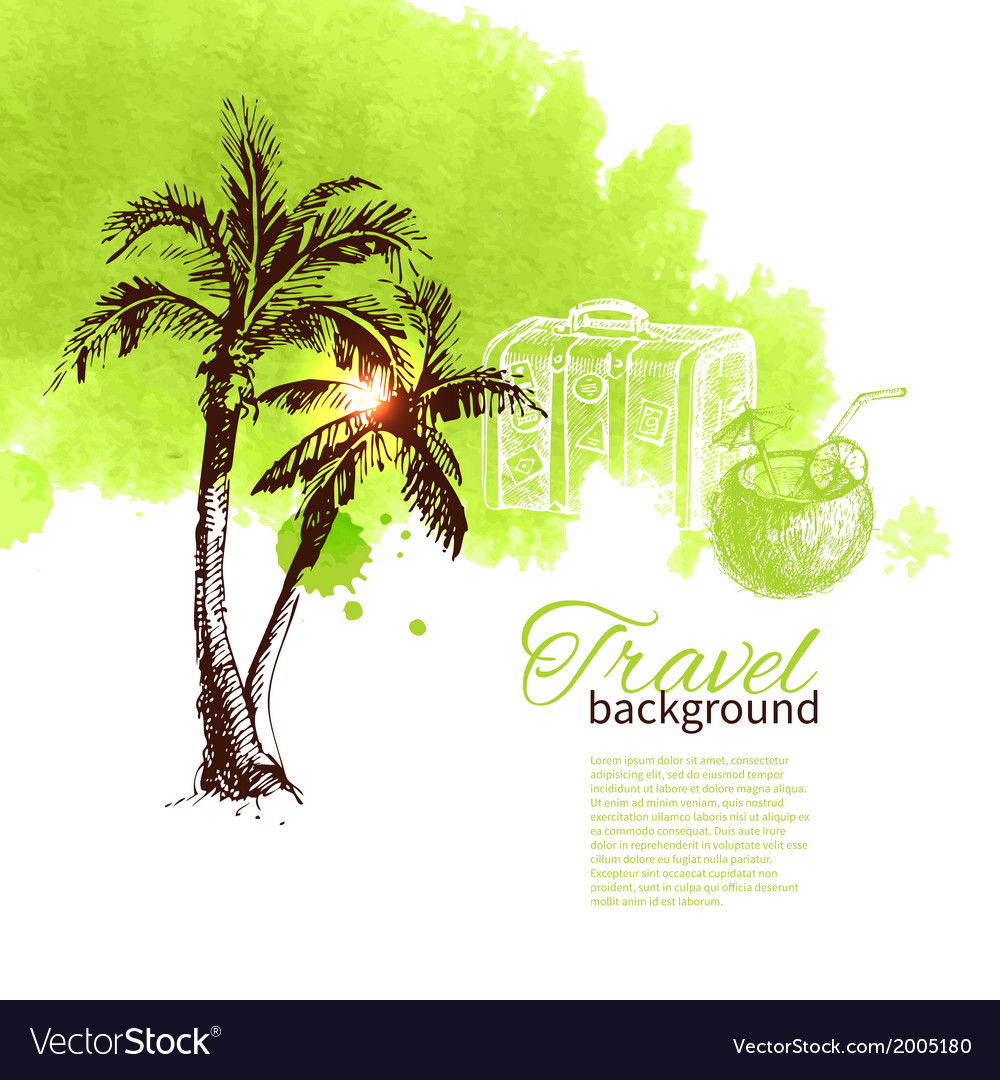 Travel tropical design vector | Price: 1 Credit (USD $1)