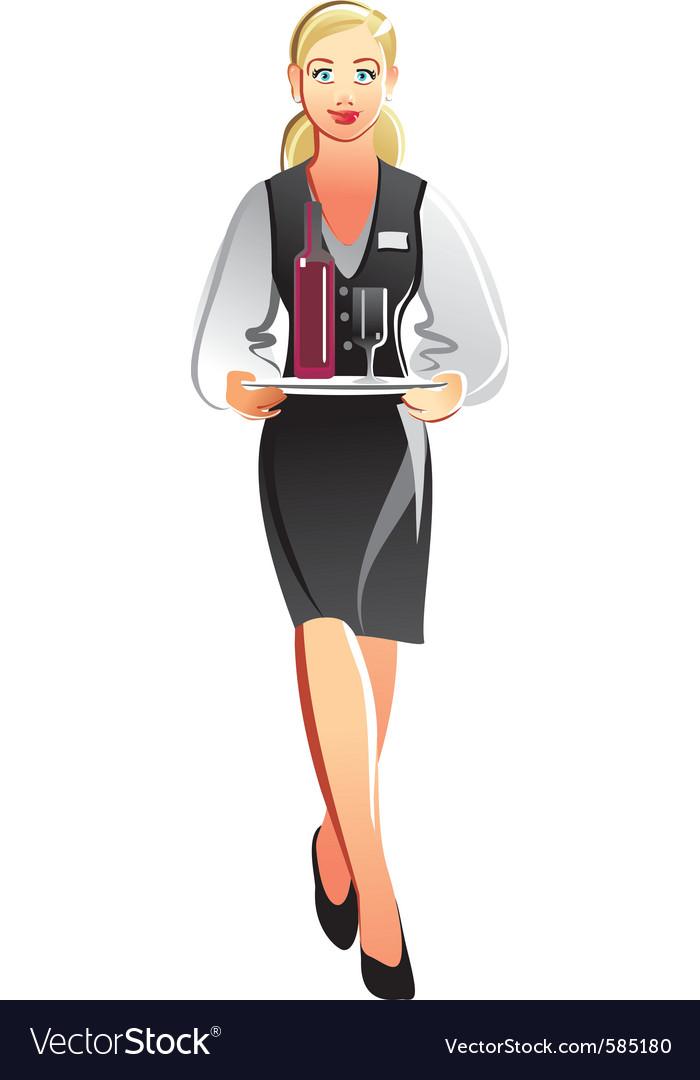 Waitress vector | Price: 3 Credit (USD $3)