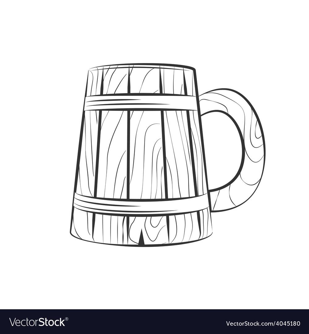 Wooden beer cup vector | Price: 1 Credit (USD $1)
