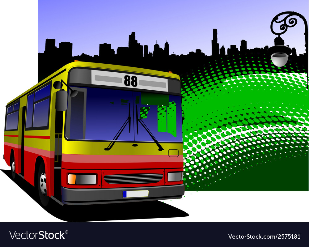 Al 0613 bus 04 vector | Price: 1 Credit (USD $1)