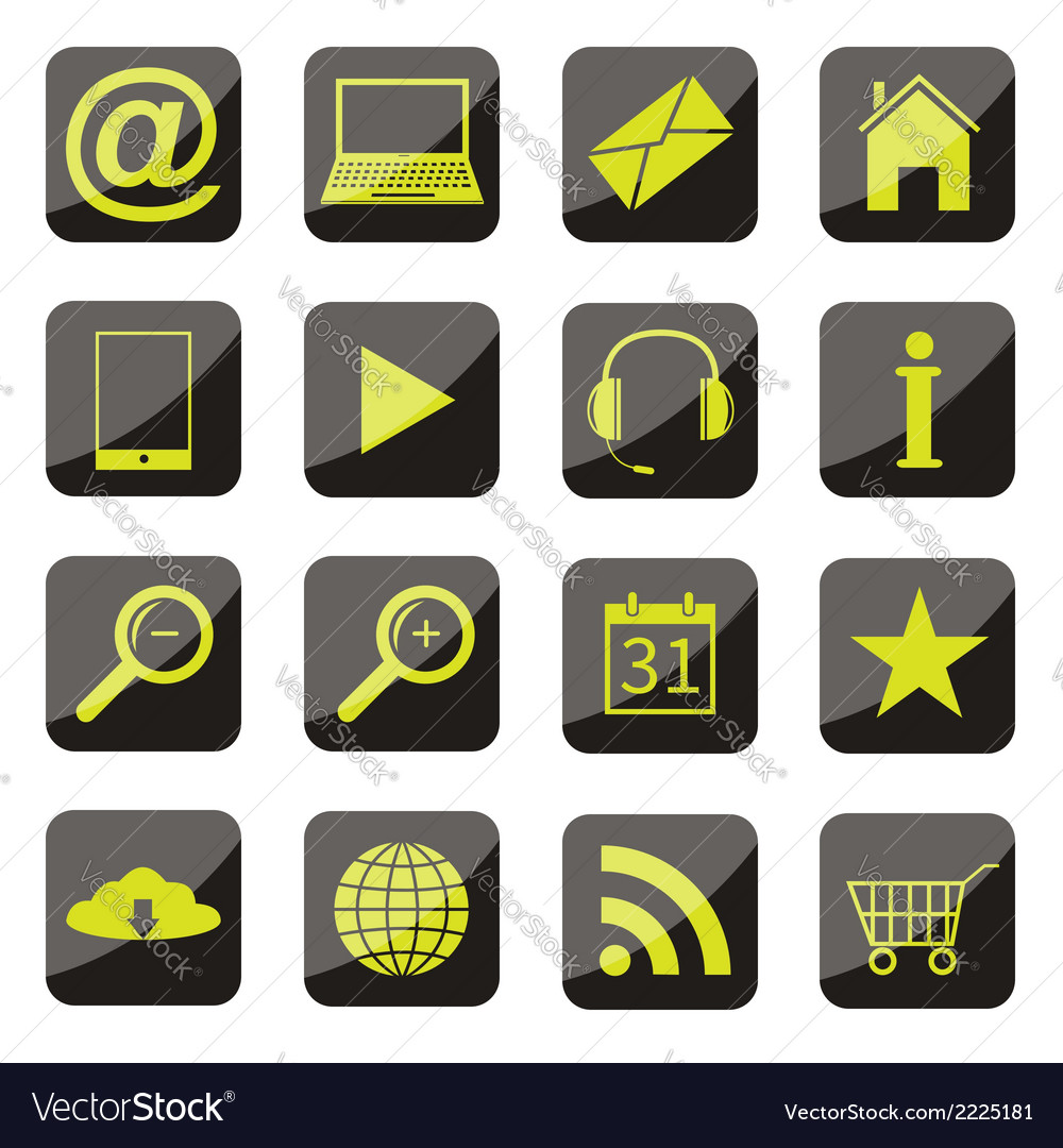 Apps icon set vector | Price: 1 Credit (USD $1)