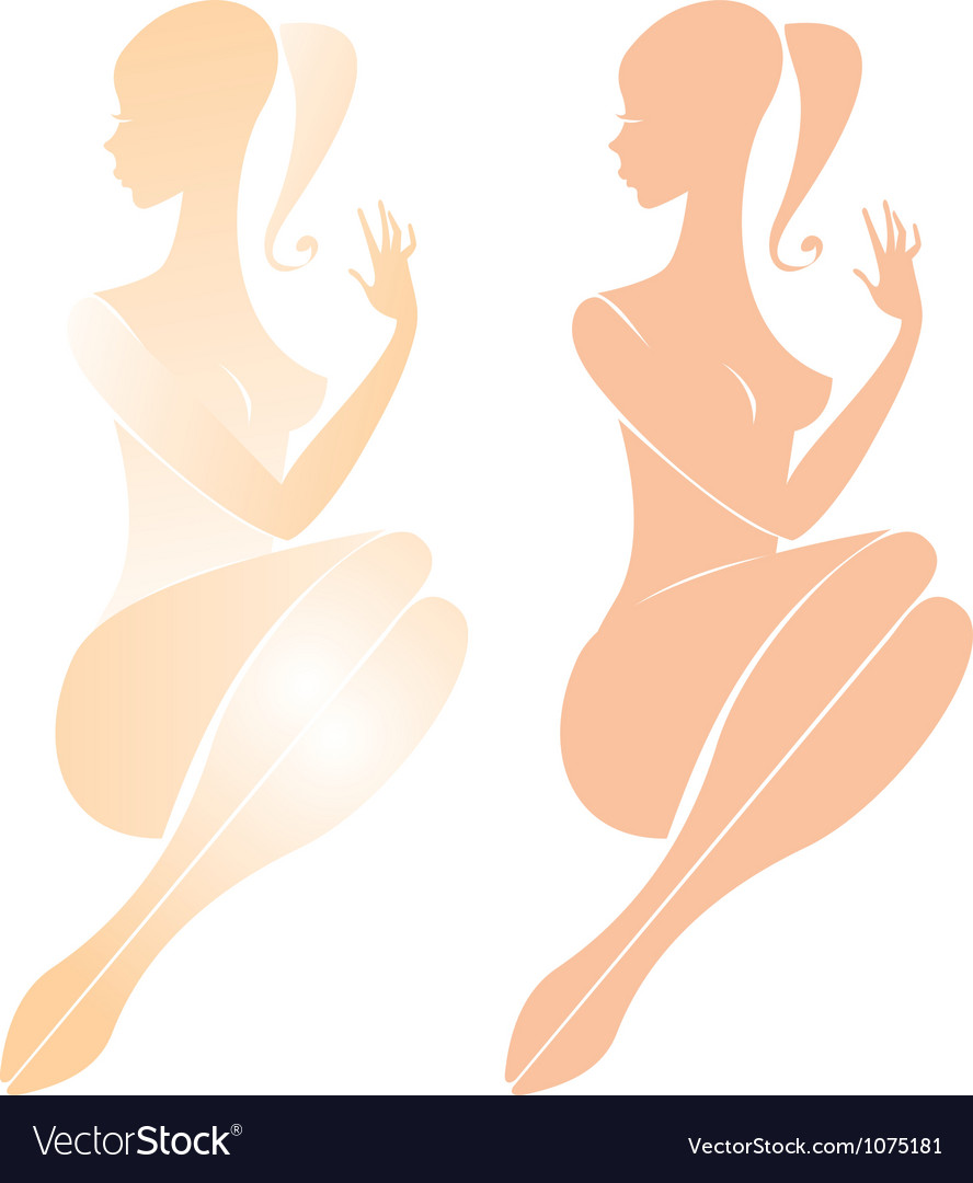 Beautiful nude female figure vector | Price: 1 Credit (USD $1)