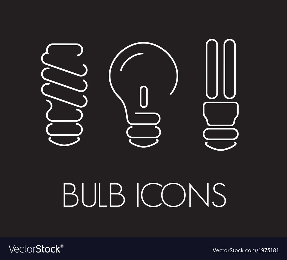 Bulb thin2 vector | Price: 1 Credit (USD $1)