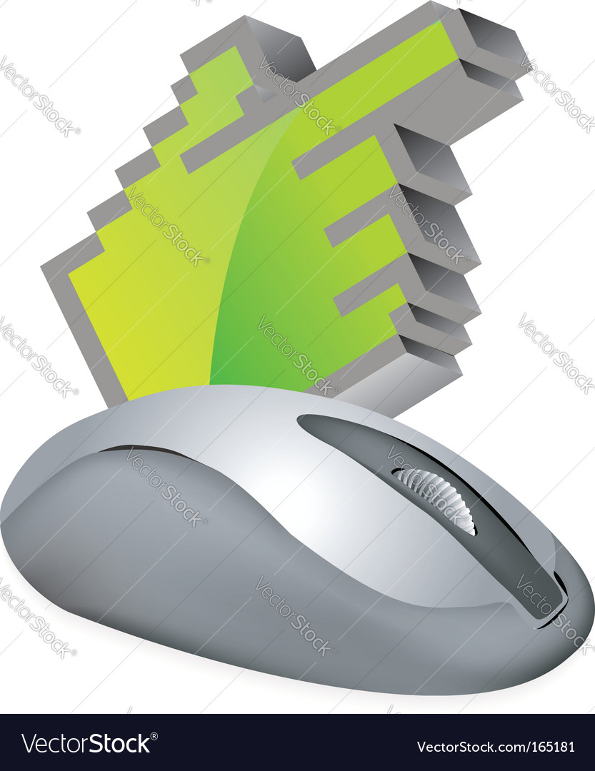 Computer mouse with cursor vector | Price: 1 Credit (USD $1)