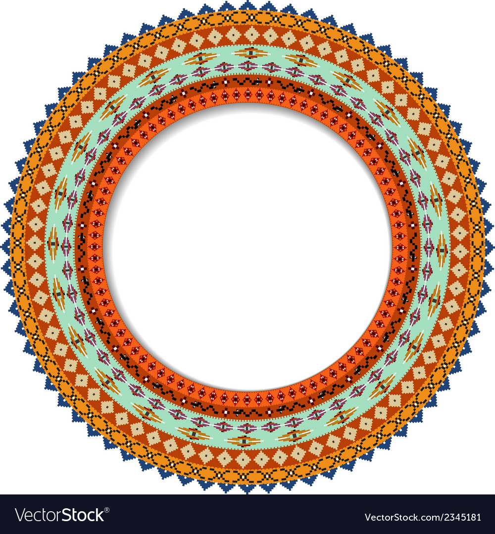 Geometric decorative rosette in the mexican style vector | Price: 1 Credit (USD $1)