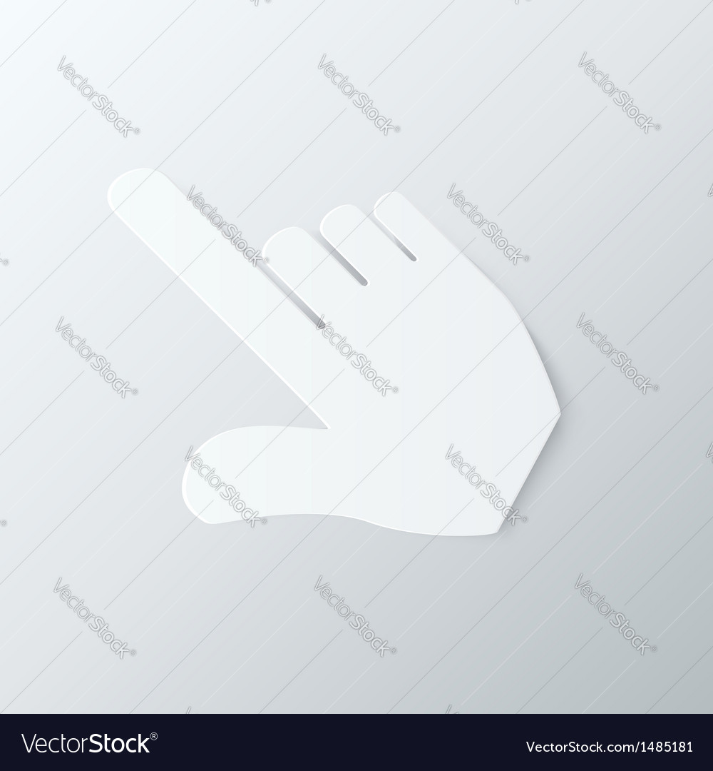 Paper hand cursor in perspective vector | Price: 1 Credit (USD $1)