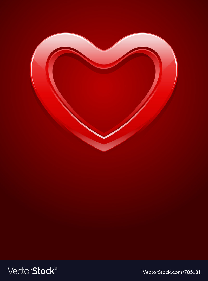 Red shiny glass heart vector | Price: 1 Credit (USD $1)
