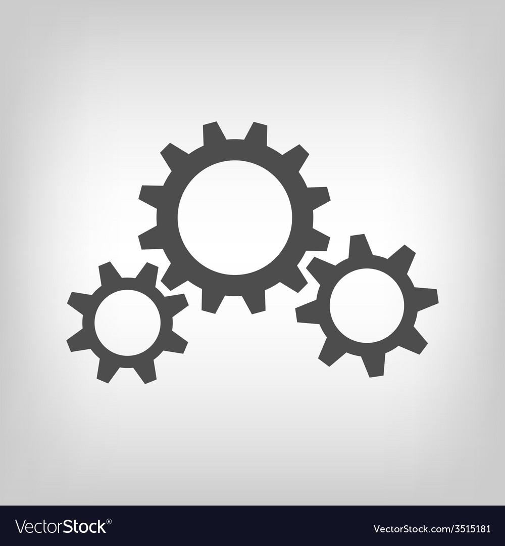 Three grey gear wheels vector | Price: 1 Credit (USD $1)