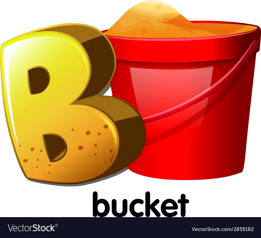 A letter b for bucket vector | Price: 1 Credit (USD $1)